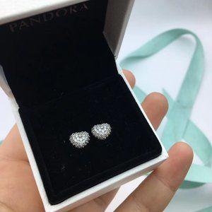 Sparkling Pattern Heart Single Stud Earring